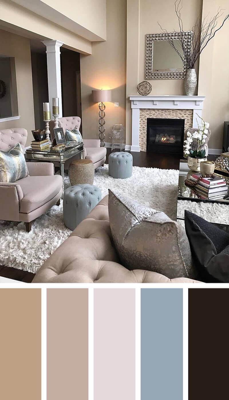 Màu sắc nội thất phòng khách hài hòa