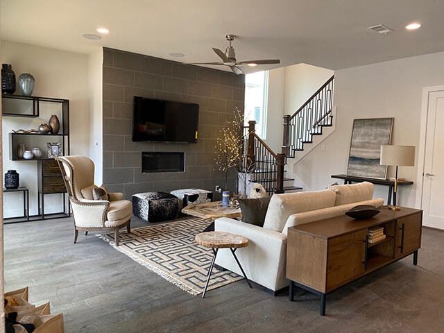Phòng khách biệt thự đơn giản