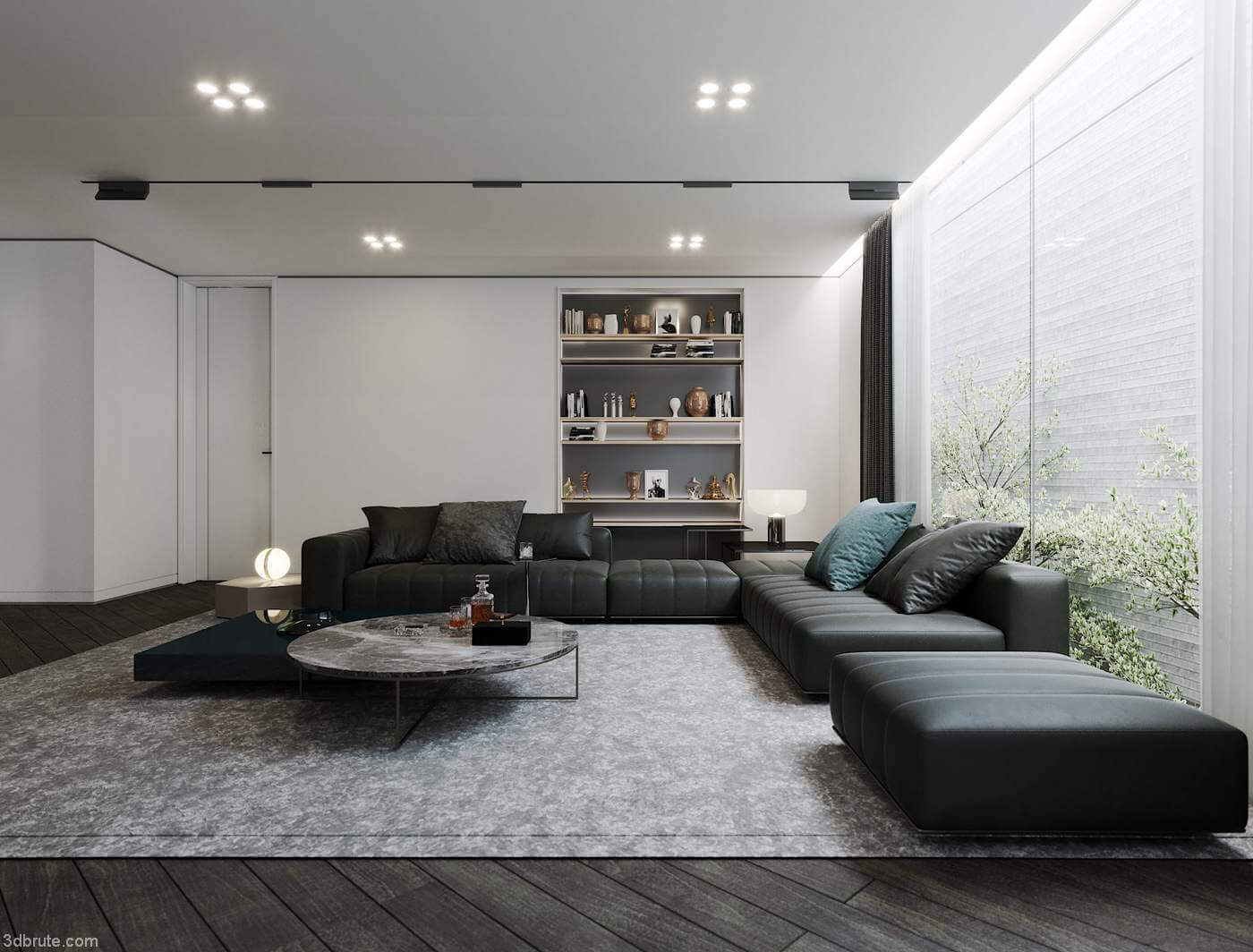 Phòng khách biệt thự đơn giản 2