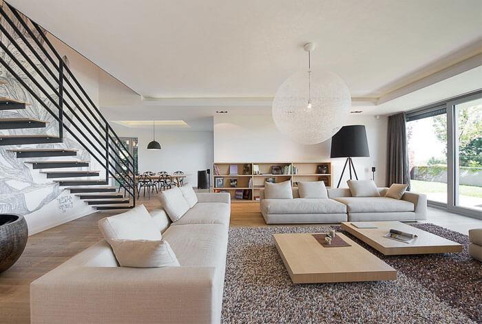 Phòng khách chung cư Căn hộ Duplex
