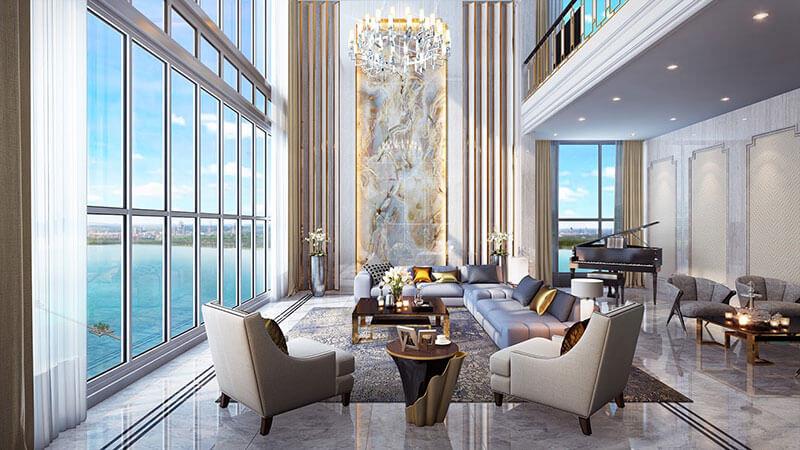 Phòng khách chung cư Sky Villa