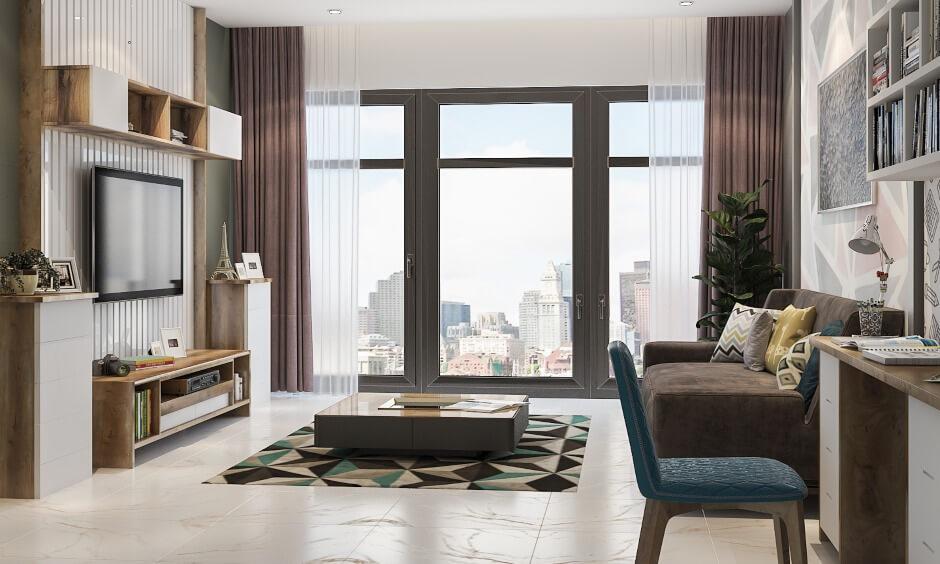 Phòng khách chung cư đơn giản
