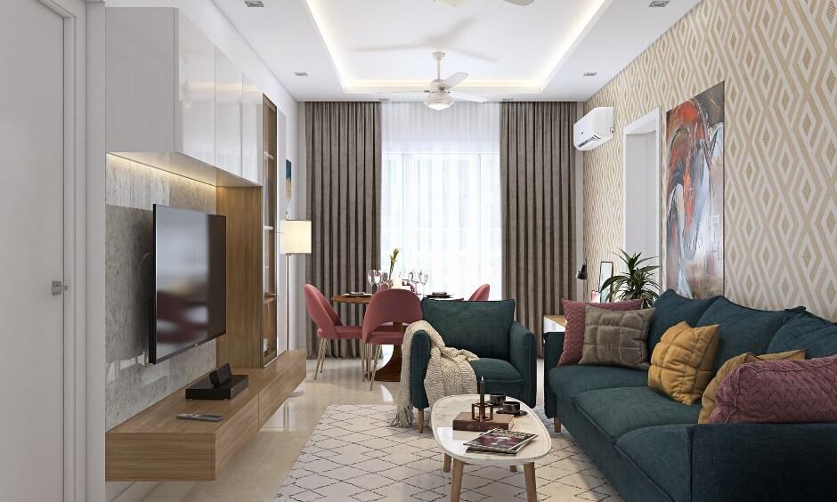 Phòng khách chung cư đơn giản 1