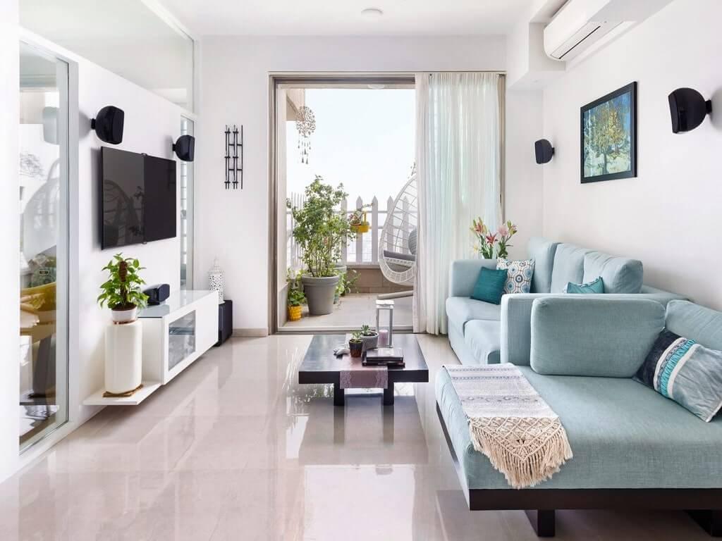 Phòng khách chung cư đơn giản 2