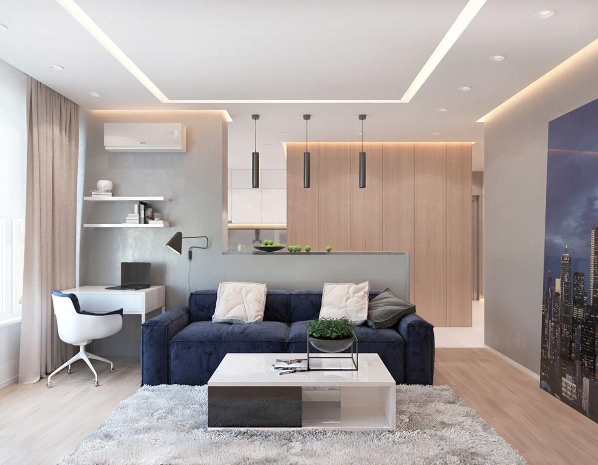 Phòng khách chung cư đơn giản 3