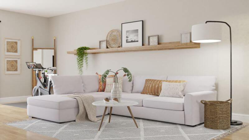 Phòng khách nhà cấp 4 đơn giản