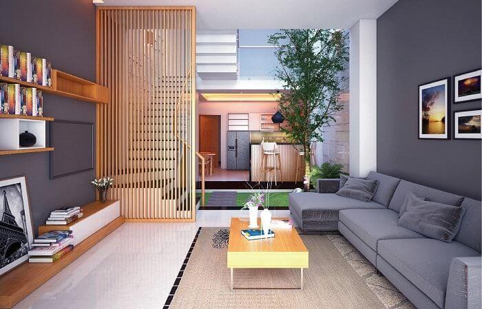 Phòng khách nhà ống đơn giản 4