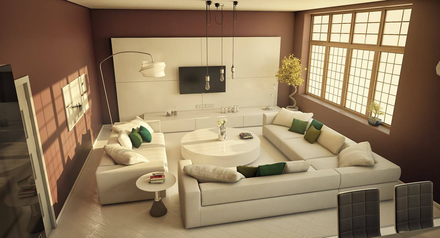Thiết kế phòng khách nhà cấp 4
