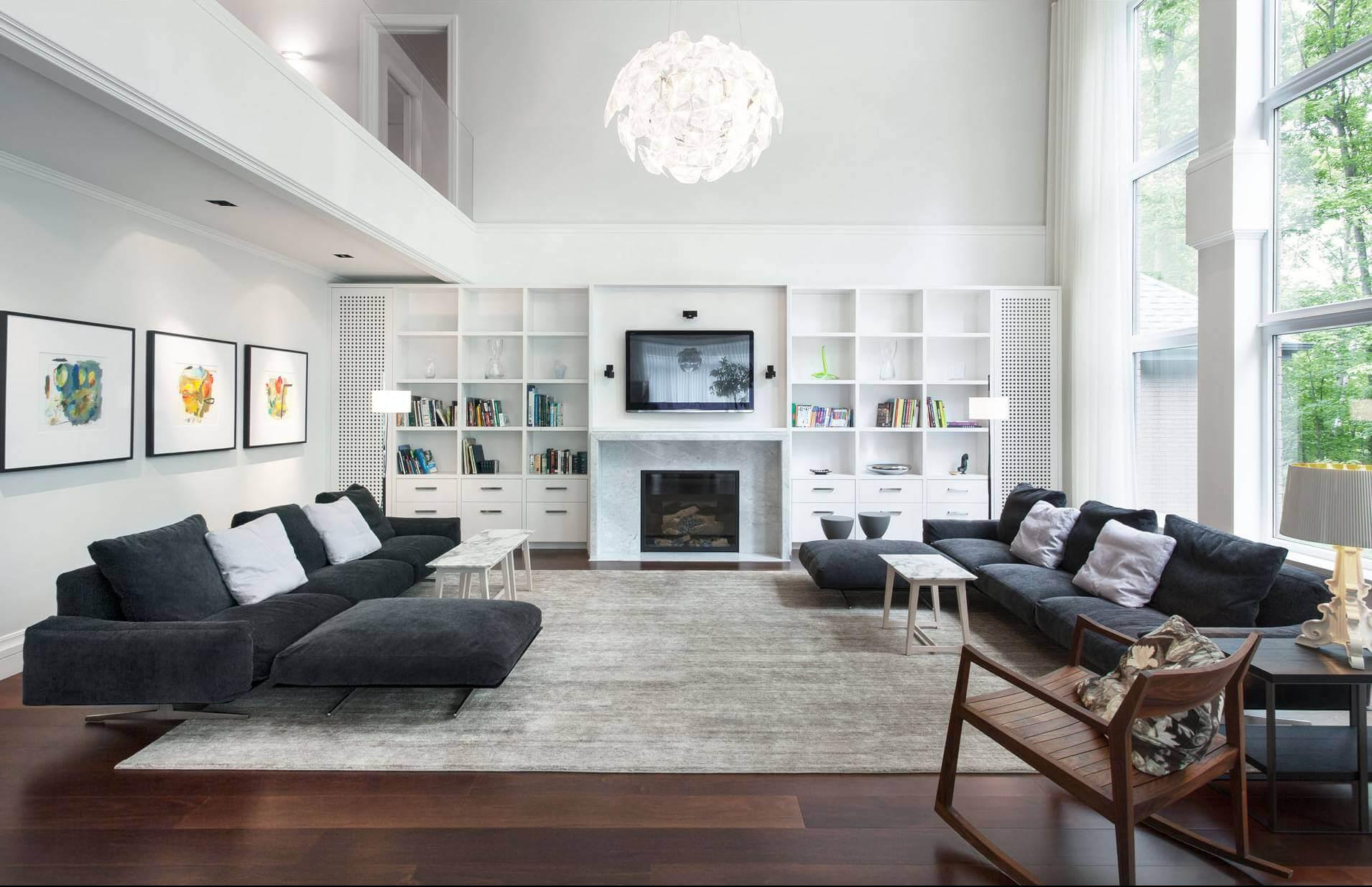 Thiết kế phòng khách rộng