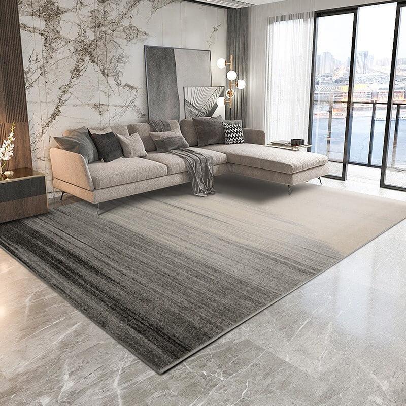 Trang trí tường hài hòa và trần phòng khách đơn giản