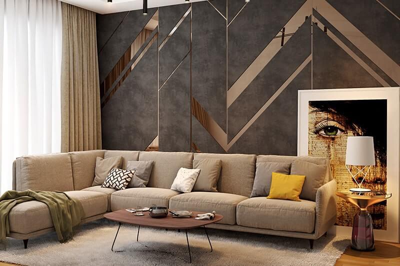 Tường phòng khách