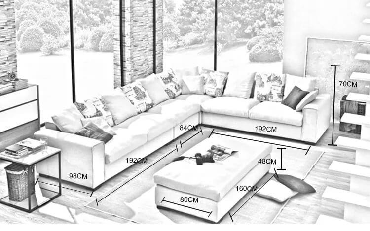 Kích thước nội thất phòng khách
