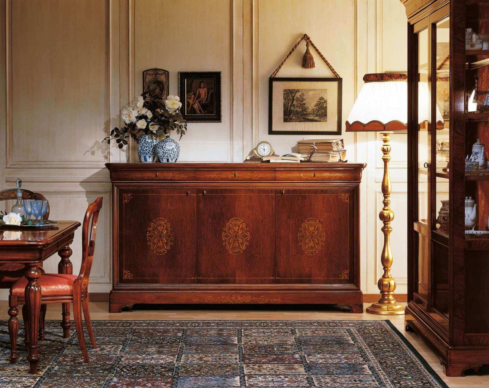 Phòng khách gỗ sang trọng