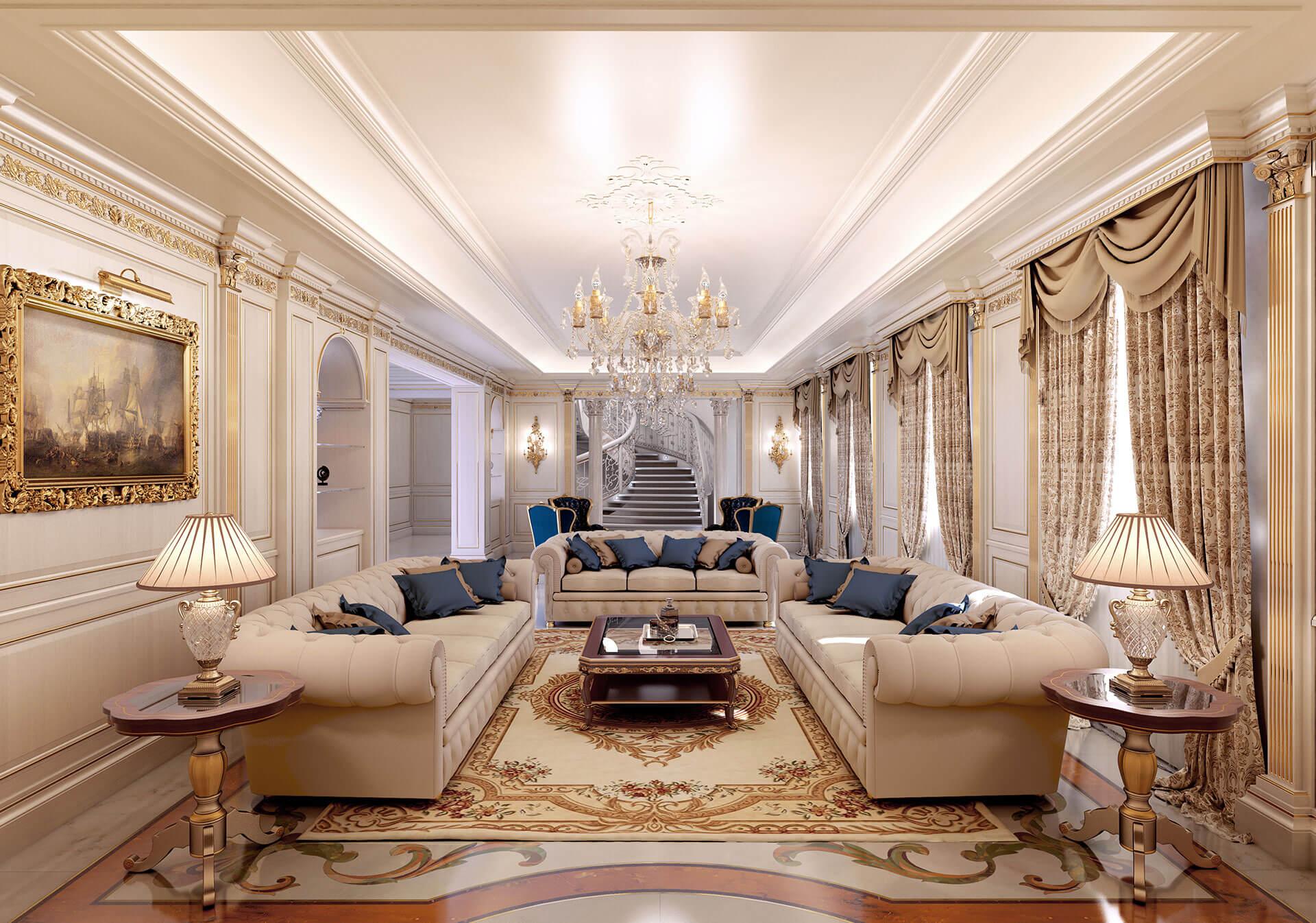 Phòng khách sang trọng cổ điển
