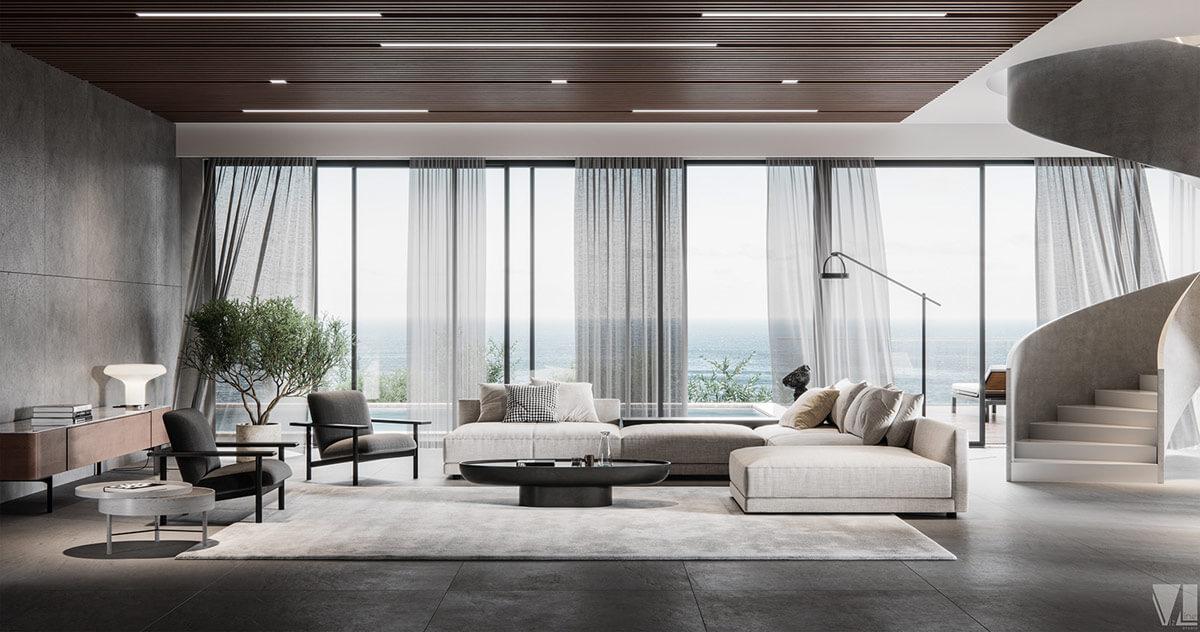 Phong cách thiết kế phòng khách sang trọng